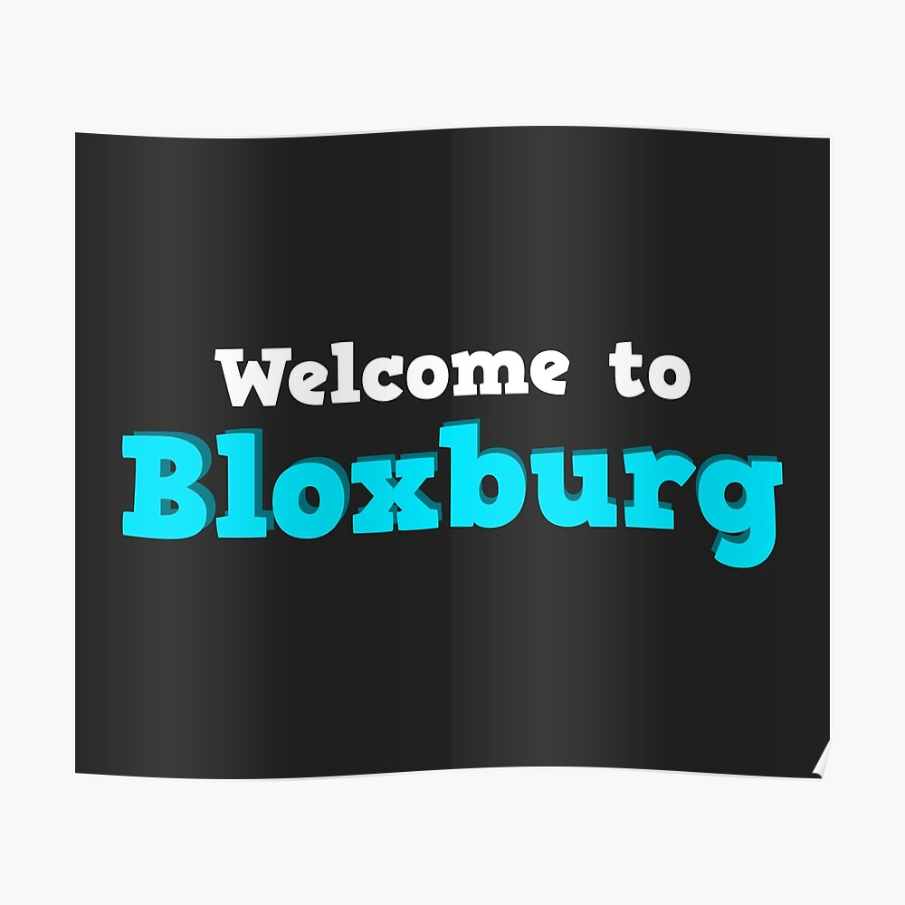 Roblox Welcome To Bloxburg Poster Codes Welcome To Bloxburg Roblox Postcard By Overflowhidden Redbubble