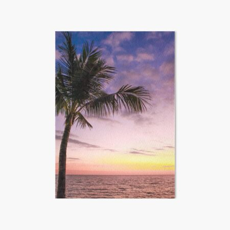 Palm in Paradise Art Board Print
