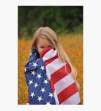 Giggly Patriot Photographic Print