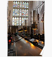 lamps, bath abbey, england Poster