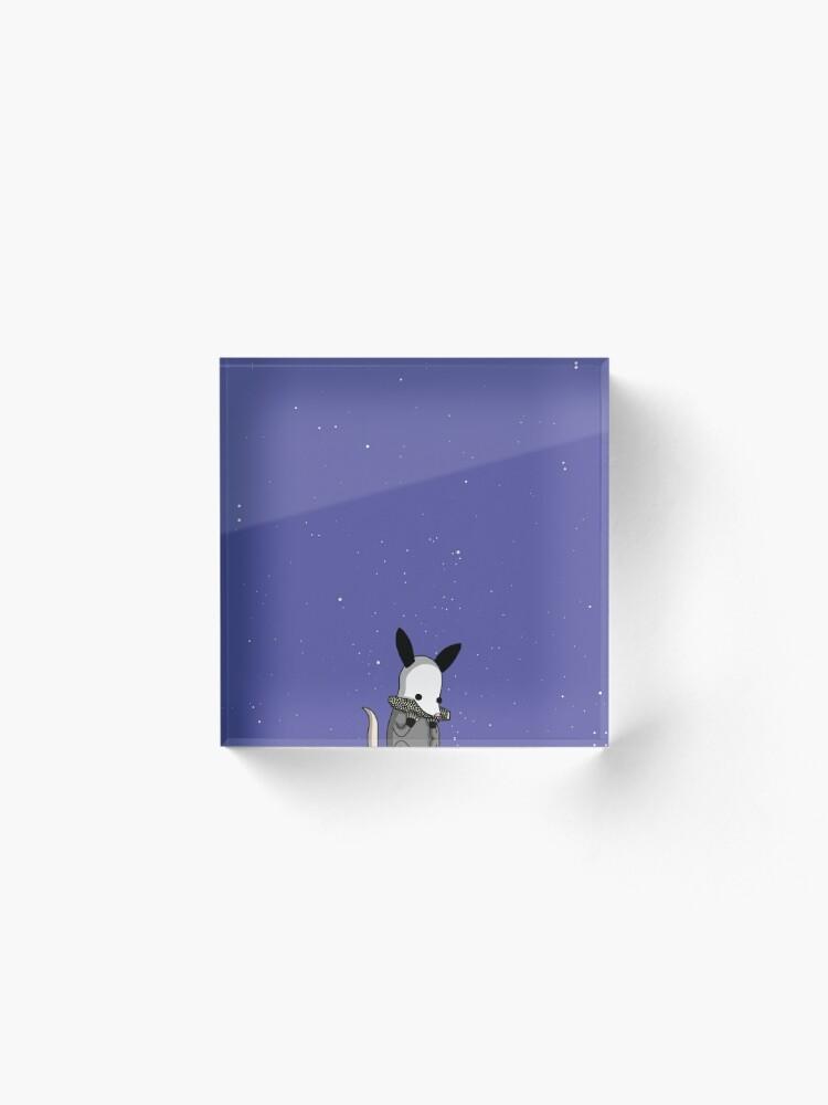 Alternate view of Midnight Posso - Tiny Snek Comics Acrylic Block