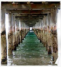 Under the Pier - Flinders, VIC Poster