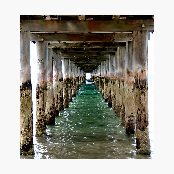 Under the Pier - Flinders, VIC Photographic Print