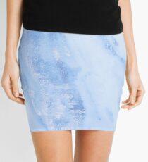 Blauer Marmor - schimmerndes reines Ceruleanblauer Marmor Metallic Minirock