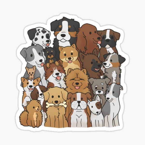 Doggo Collage Sticker