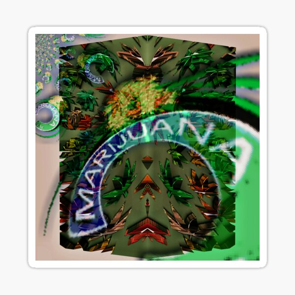 Marijuana Street Sticker