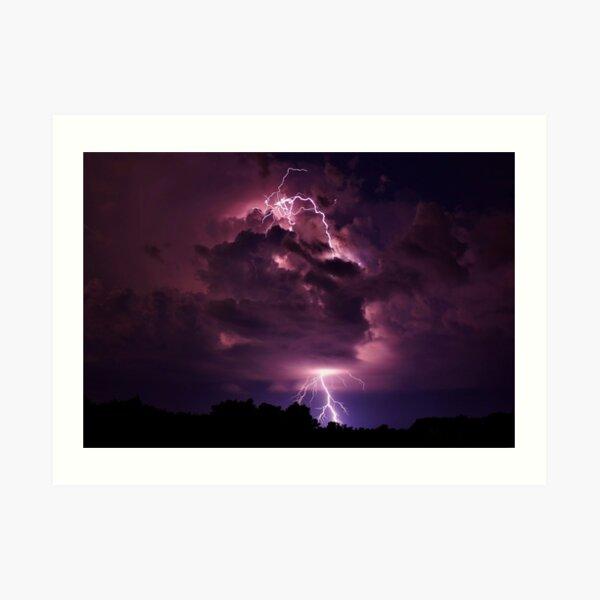 Lightning strike in Missouri Art Print