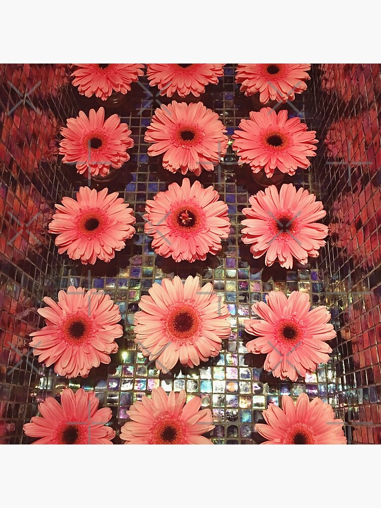Flower Lovers Gift - Pink Gerberas by OneDayArt