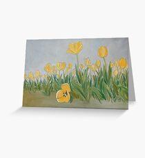 """DeeDee's Tulips"" Greeting Card"