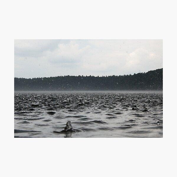 Rain Across Walden Pond Photographic Print