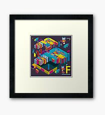 F graphics pattern 3 Framed Print