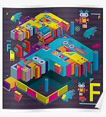 F graphics pattern 3 Poster