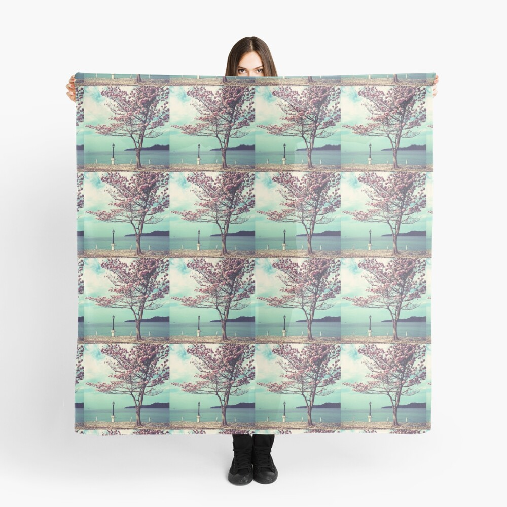 Blooms by the Sea - Panama Landscape  Scarf