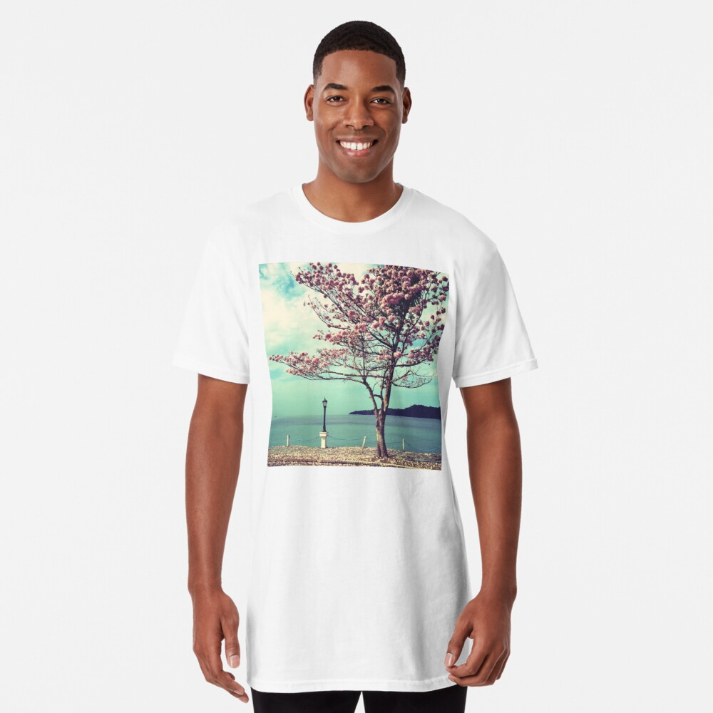 Blooms by the Sea - Panama Landscape  Long T-Shirt