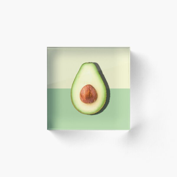 Avocado Half Slice Tropical Fruit Acrylic Block