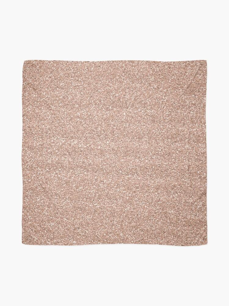 Alternate view of Rose Gold Glitter - Glittery Pink Metallic Glitter Scarf