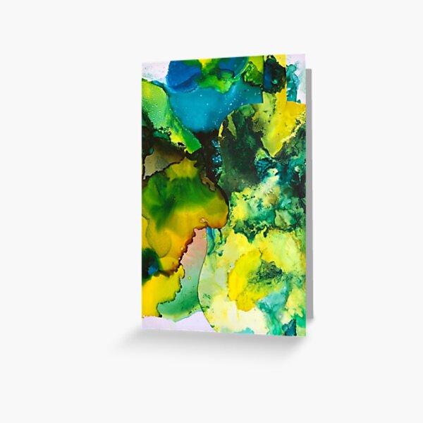 Green Violin Greeting Card