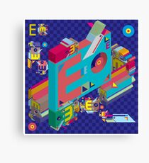 vector alphabet 3D letter E Canvas Print