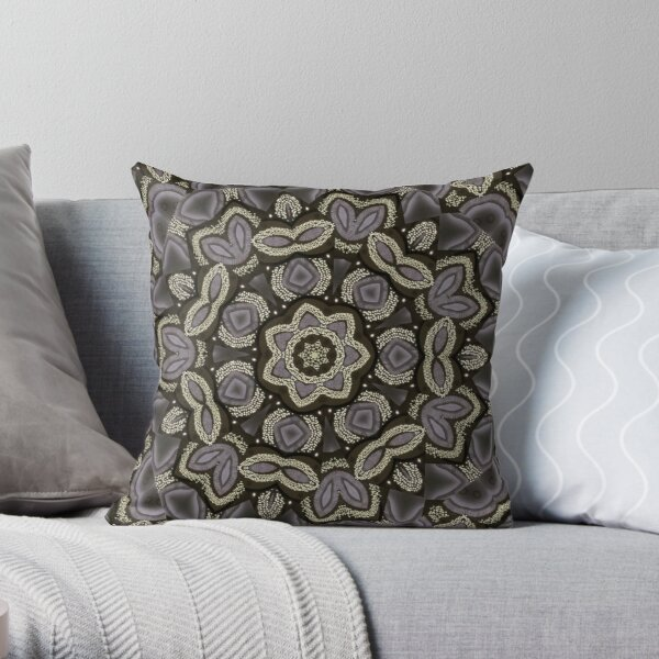 Floral Pearls Throw Pillow
