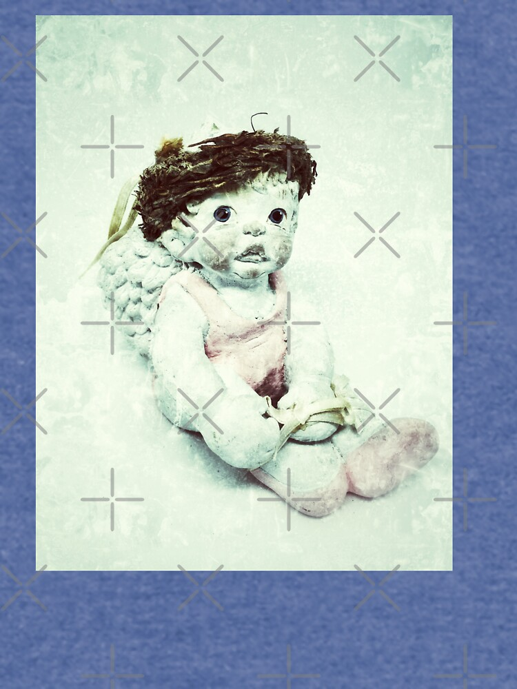 Gift for Dancer - Ballerina Angel Cherub in Pink Ballet Slippers - Ballet Gift by OneDayArt