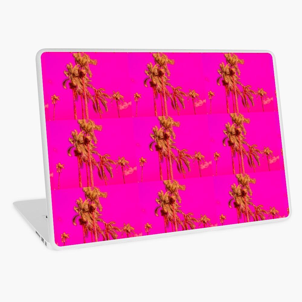 Neon Pink Tropics - Psychedelic Coconut Trees Art - Graduation Gift Laptop Skin