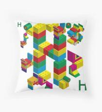 blocks constructor toys Throw Pillow