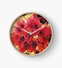 Sunset Bougainvillea Clock