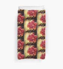 Sunset Bougainvillea Duvet Cover