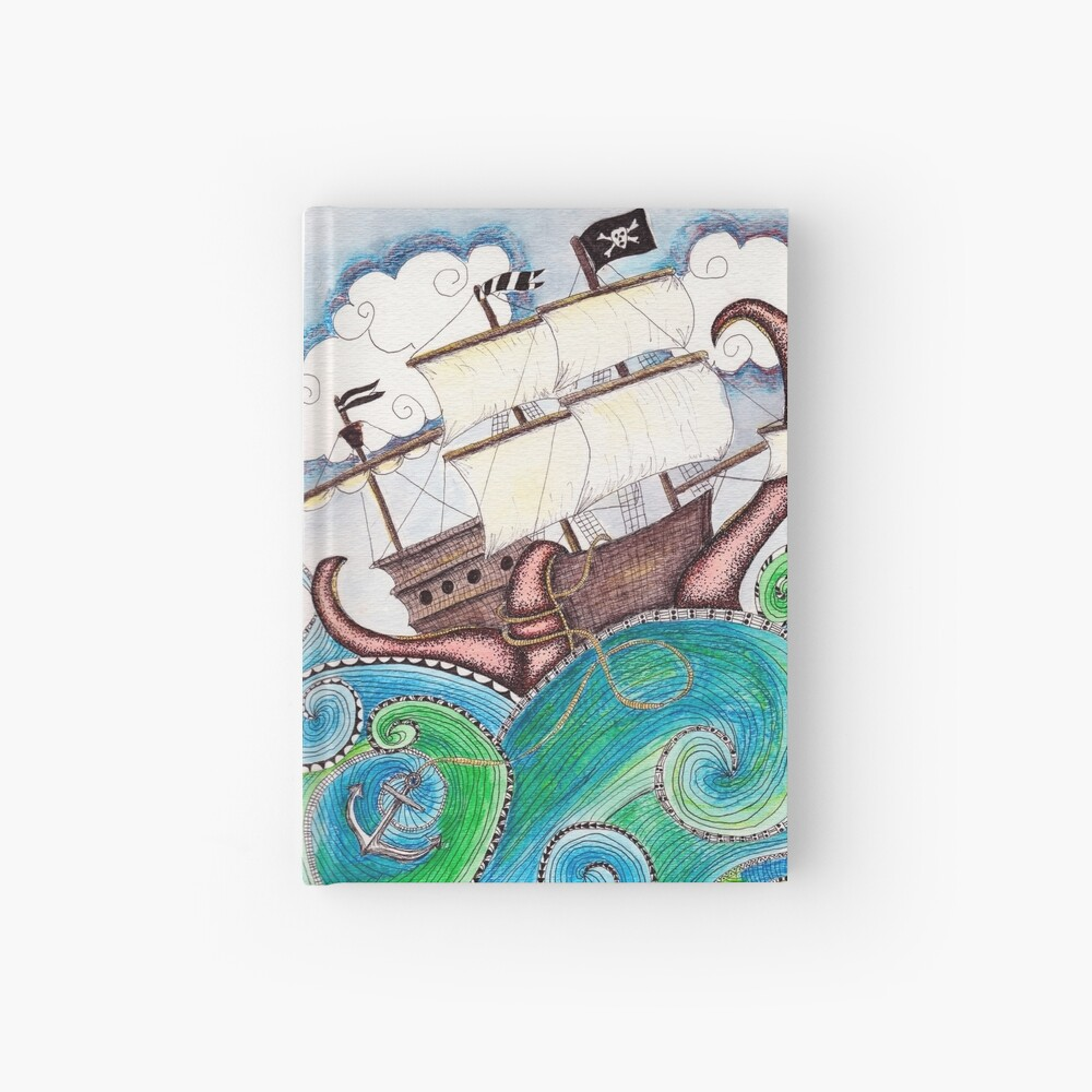 Pirate Peril Hardcover Journal