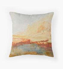 Zoom to Red house on the lake Throw Pillow