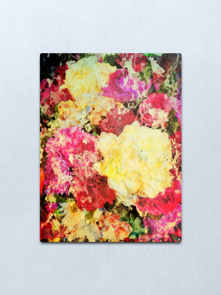 Alternate view of Springtime Bouquet Art - Floral Gift Metal Print