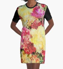 Springtime Bouquet Art Graphic T-Shirt Dress