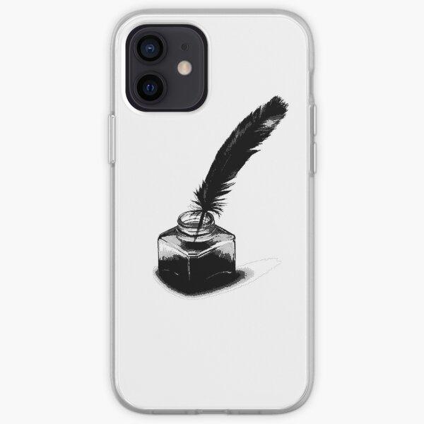 Tinta y pluma 4 Funda blanda para iPhone