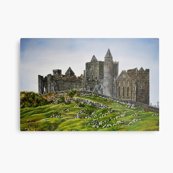Rock of Cashel, Ireland (Carraig Phadraig) - oil painting Metal Print