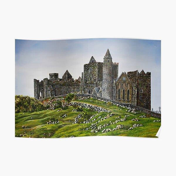 Rock of Cashel, Ireland (Carraig Phadraig) - oil painting Poster