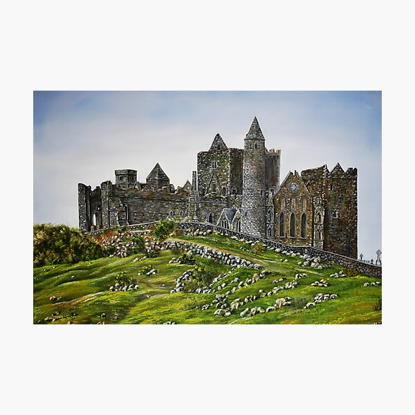 Rock of Cashel, Ireland (Carraig Phadraig) - oil painting Photographic Print