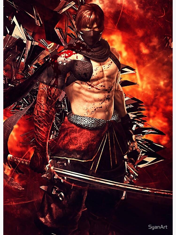 Ninja Gaiden 3 Razors Edge Ryu Hayabusa Art Board Print By Syanart