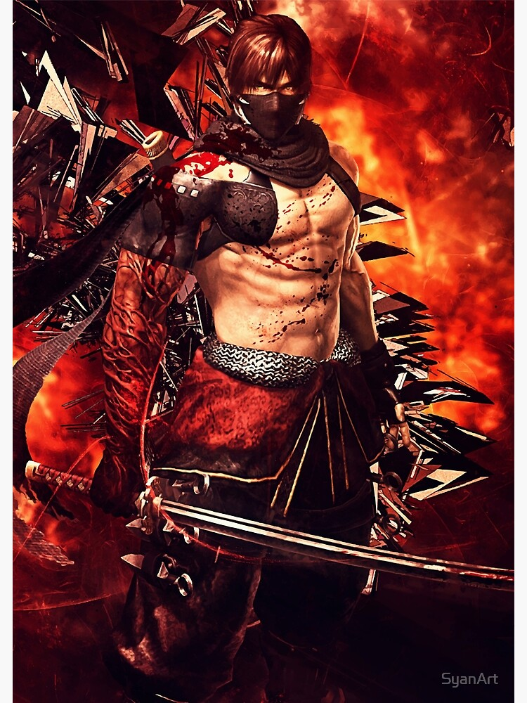 Ninja Gaiden 3 Razors Edge Ryu Hayabusa Greeting Card By Syanart