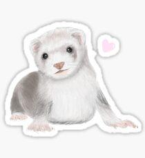 Pegatina Ferret Love