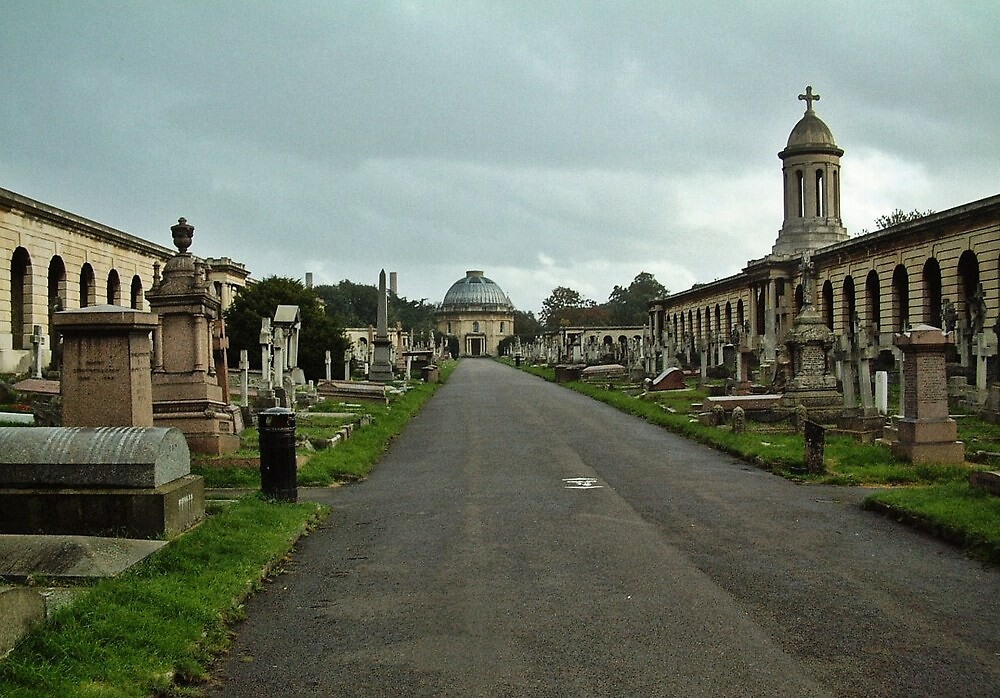 Brompton Cemetery, London by Dave Godden