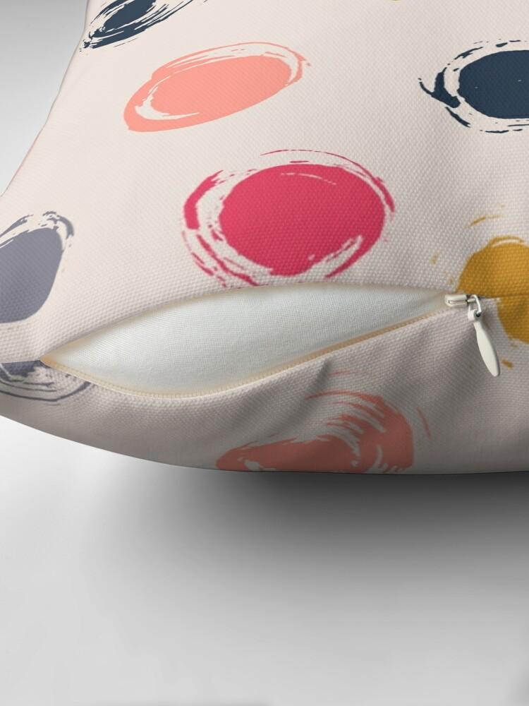 Alternate view of Handpainted Circle Textures Cream Multi Throw Pillow