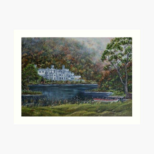 """""""Mist over Kylemore Abbey"""" - Oil Painting Art Print"""