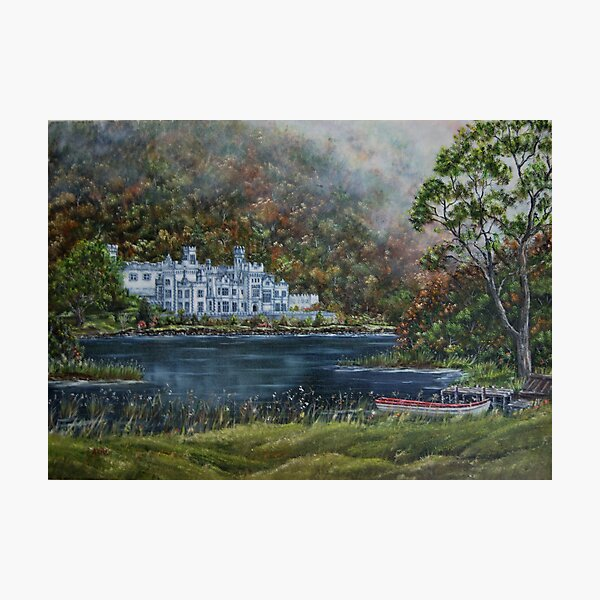 """""""Mist over Kylemore Abbey"""" - Oil Painting Photographic Print"""