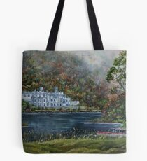 """""""Mist over Kylemore Abbey"""" - Oil Painting Tote Bag"""