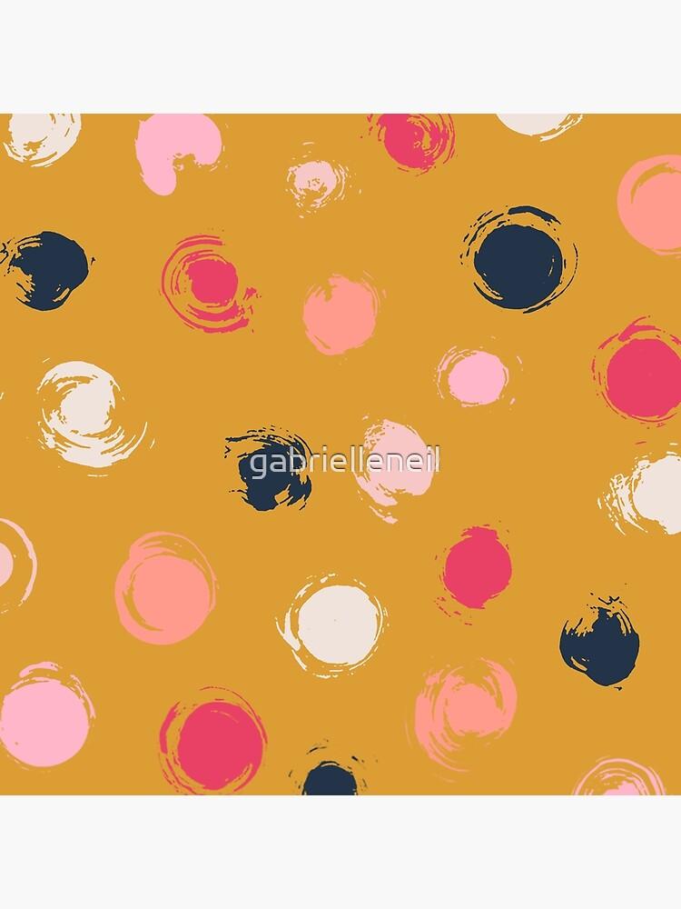 Handpainted Circle Textures Mustard Yellow by gabrielleneil