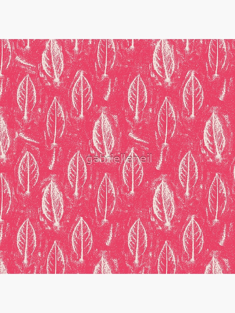 Leaves Relief Sketch Deep Pink by gabrielleneil