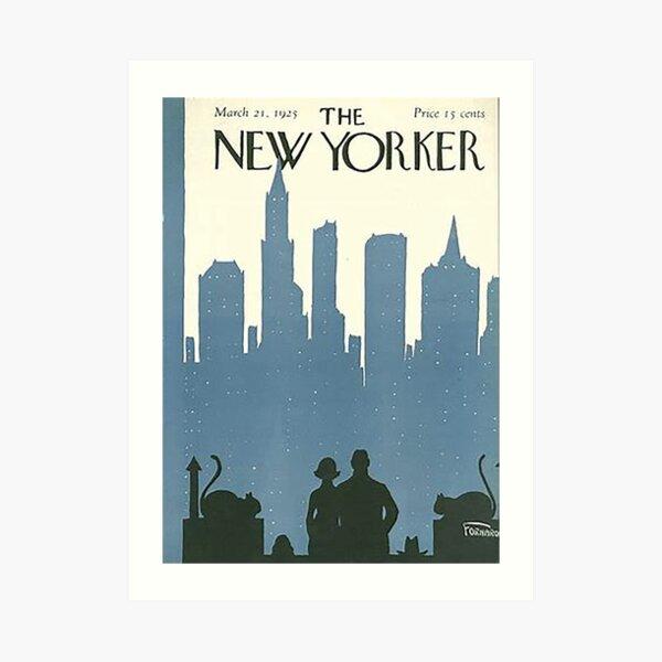 Vintage New Yorker Cover - Circa 1925 Art Print