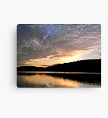puffy clouds and reflections Canvas Print