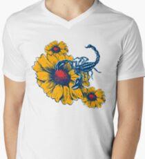 Scorpion Flowers V-Neck T-Shirt