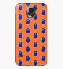Glücklicher gemütlicher blauer Sloth Bear Hülle & Klebefolie für Samsung Galaxy